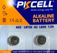 AG2-2 Pcs 396 Tianqiu Alkaline Button Cell Battery USA Authorized seller.