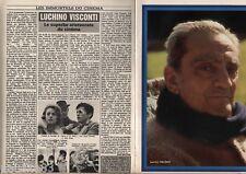 Coupure de presse Clipping 1984 Lucino Visconti  (4 pages)