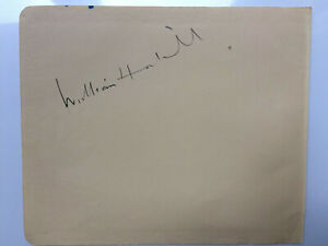William Hartnell - Doctor Who - Original Hand Signed Autograph