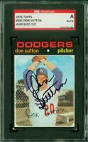 SGC Authentic Original Autograph of Don Sutton HOF, Dodgers on a 1971 Topps