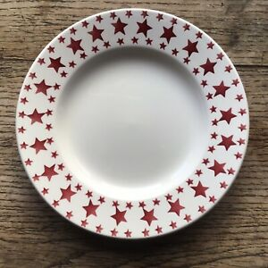 Emma Bridgewater 8.5 inch Side Plate Red Stars Christmas New