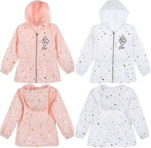 Kids Girls Frozen Lightweight Showerproof Jacket Elsa Rain Coat 4 to 8 Years