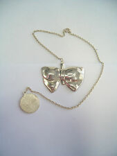 Bookmark with Bow in Silver 925 - Sagnapagina Book with Chain