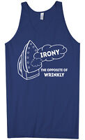 Irony Opposite Of Wrinkly Men's Tank Top Funny Novelty Gift