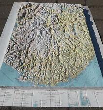 Russian Soviet Military Topographic Map 3D PLASTIC - KRISTIANSAND (Norway) 500k