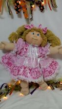 CABBAGE PATCH DOLL CLOTHES HOMEMADE Breast Care Awareness Very Pink & Lace...