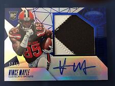 Vince Mayle 2015 Certified Freshman Fabric Mirror Blue RC Auto/Jersey, #52/99
