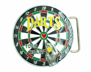 Darts Dart Board Sport Bar Novelty Metal Belt Buckle