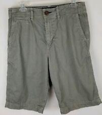 Mens AE American Eagle Longer Length Shorts Size 30 Light Gray