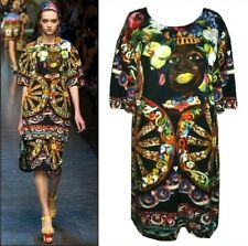 DOLCE & GABBANA ~ GOUTURE 2013`FACES`Shirt Dress ~ size: M  ; 40 ~ AUTEHNTIC
