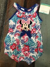 Disney Store Minnie Mouse Newborn Outfit One Piece Romper Tropical Baby