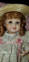 "Vintage REPRO Connie Walser Derek 14"" porcelain doll  ""PLAYTIME IN SUMMER"""