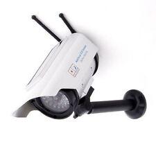 Solar Power Fake CCTV Camera Dummy Cam Security For Outdoor & Home Red LED Light
