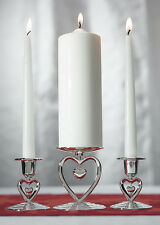 Suspended Heart Unity Candle Stand Set Wedding Unity Ceremony