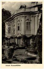 Ansbach Bayern alte Postkarte 1952 Partie am Prinzenschlößchen Garten Anlagen