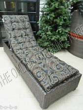 1 Frontgate Outdoor Chaise  Cushion PILLOW EBONY TRAVITA paisley black 23x78