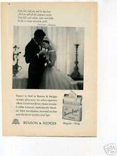 Benson & Hedges Cigarette 1950's Original Vintage Ad