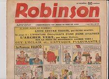 ROBINSON n°15 du 9 Août 1936. Mandrake, Guy l'Eclair...
