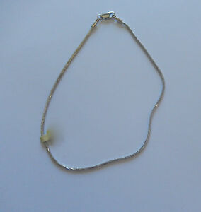Anklet - Rhodium plated-snake style chain-silver color 9.25 inches-  beautiful