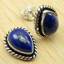 """0.6"""" Silver Plated Jewelry Online Store High End Lapis Lazuli Handwork Earrings"""