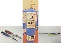Refrigerant 12, Pure R12, r-12, New, 28 oz. Includes On/Off Valve, Tool Kit D