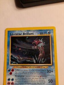 Carte Pokemon holo Léviator Brillant 65/64 secrete Neo Revelation ultra rare