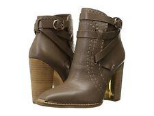 $348 NEW Rachel Zoe Women US 7 Brenda Leather Classic Heel Ankle Boots Booties