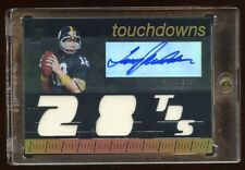 2007 TOPPS TERRY BRADSHAW AUTO #D /99 GAME JERSEY 5X PIECE RARE STEELERS HOF QB