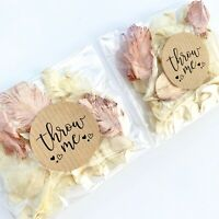 Ivory Rose Gold Petal Biodegradable Wedding Confetti Dried Real Petal Bag PACKET
