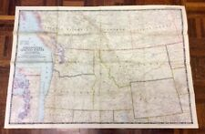 Large Vintage Map Of The North Western United States - National Geographic 1950