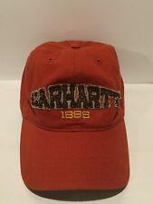 Men's Carhartt 1889 Ball Cap Hat Adjustable RN14806 Red