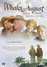 THE WHALES OF AUGUST GENUINE R2 DVD BETTE DAVIS LILLIAN GISH VINCENT PRICE GOOD