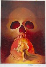 Originalzeichnung CASTRO für John Sinclair ? Titelbild Romanheft Horror signiert