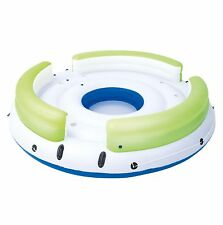 Bestway CoolerZ Lazy Dayz 6-Person Inflatable Floating Island Lounge Raft 43135E