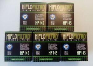 Yamaha XVS125 Frizione Stella (2000 A 2004) Hiflofiltro Filtri Olio (HF145) X 5