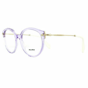 Miu Miu Glasses Frames MU04PV U691O1 50MM Transparent Lilac 50mm Womens