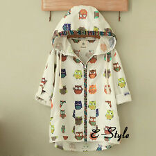 Animal Pattern Hooded Cardigan Sweet Girls Lolita Soft Coat Jacket Short Coat