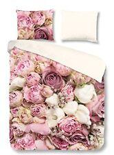 Pure Roses 100 Housse de couette en Microfibre Rose 140 x 220 cm