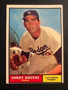 1961 Topps #344 Sandy Koufax - Los Angeles Dodgers