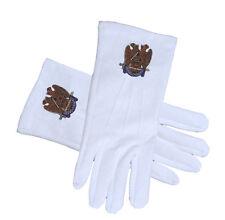 Masonic Scottish Rite 32nd Degree Cotton White Gloves Freemasons Masonic Regalia