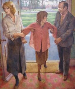 JULIAN BELL (1952-) British ORIGINAL OIL PAINTING Vanessa Bell Charleston int.