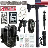 Outdoor Survival Emergency Gear Set Tactical Camping Axe Hatchet Mutil Tools Kit