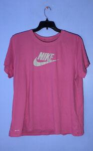 RARE Size XXL Nike Dri-FIT Swoosh Logo Women's Pink T-shirt DR1393 651