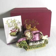 """Clair De Lune """"Kiki & Cat"""" Harmony Kingdom resin figurine w box wwn"""