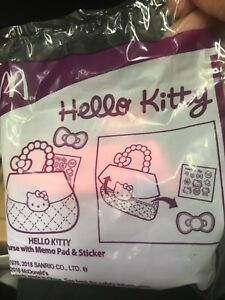 Hello Kitty Purse with memo pad & sticker happy meal Mcdonald unopened new