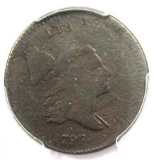 1797 Liberty Cap Flowing Hair Half Cent 1/2C - PCGS Fine Detail - Rare Coin!