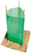 50 x Plastic Tree Plant Guard Protection Sleeves PLUS 150 x 600mm Bamboo Canes