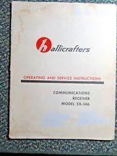 Hallicrafters Sx-146 Communications Receiver Original Instruction Manual