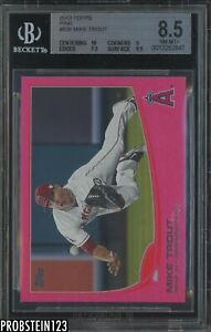 2013 Topps Pink #536 Mike Trout Angels 41/50 BGS 8.5 w/ 10