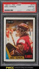1987 O-Pee-Chee Hockey Mike Vernon ROOKIE RC #215 PSA 10 GEM MINT